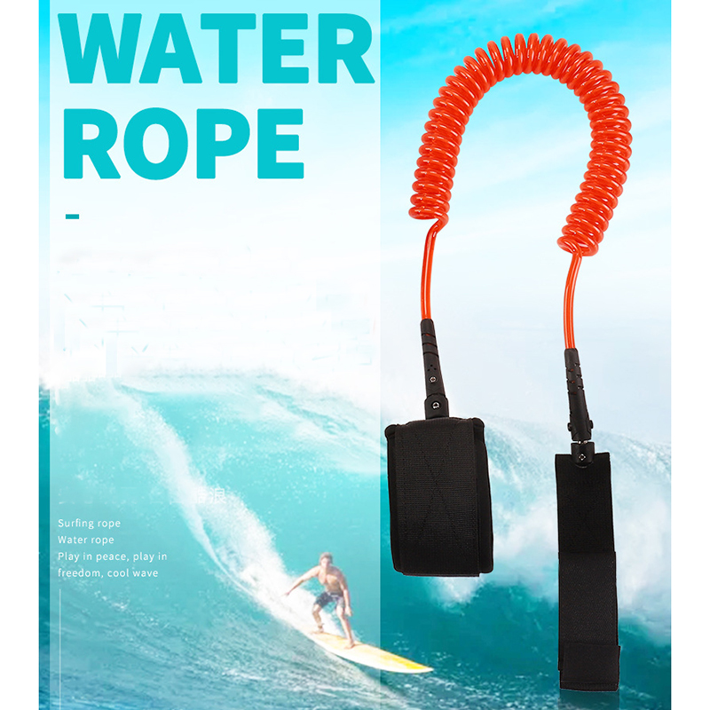 Outdoor Wakeboard Surfing Foot Rope High Rebound Inflatable Circle Surfing Safety Rope Surfboard Rope