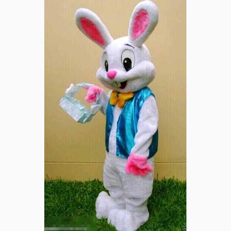 Easter Bunny Mascot Costume Cartoon Rabbit Cosplay for Easter Celebration Gift
