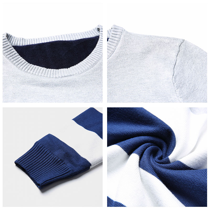 COODRONY Brand Sweater Men Casual Striped O-Neck Pull Homme Autumn Winter Knitwear Shirt Cotton Pullover Men Jersey Hombre C1005