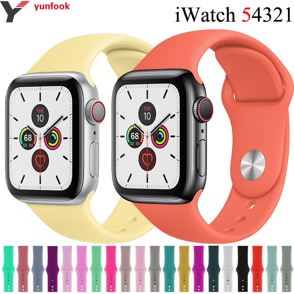 Sport Strap For Apple Watch Band 44 Mm 40mm IWatch Band 42mm 38mm Silicone Bracelet Belt Correa Apple Watch 5 4 3 2 Accessories