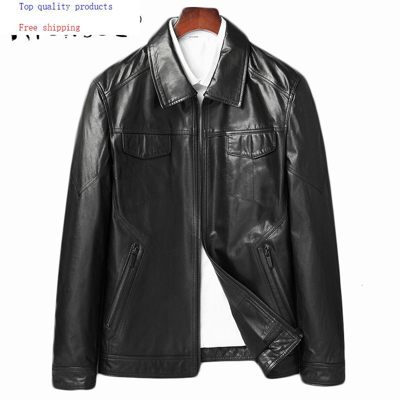 Men Goatskin Coat Autumn Genuine Leather Jacket Natural Leather Blazer Jackets Chaqueta Cuero Hombre 81Y8107 YY255 1