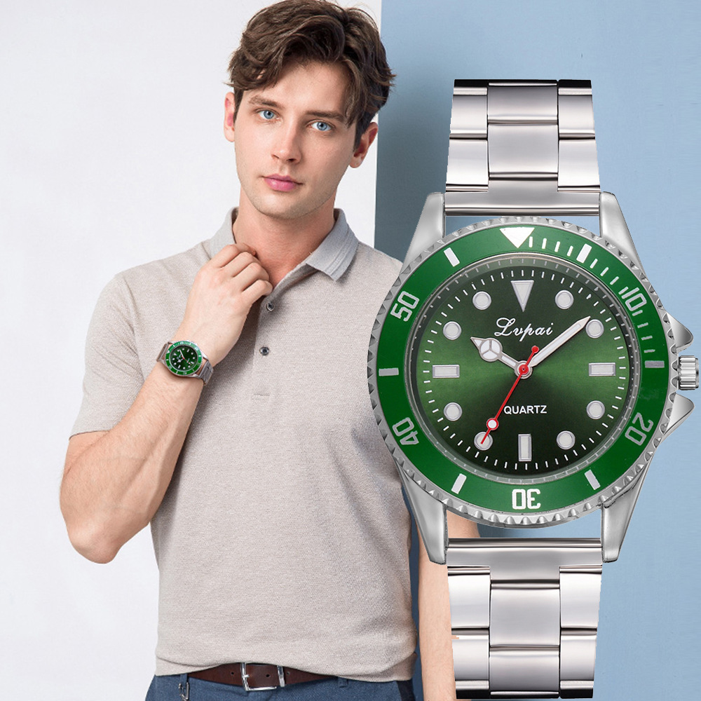 Classic Mens Watches Top Brand Luxury Military Green Quartz Wristwatch Stainless Steel Business Waterproof Clock Horloges Mannen