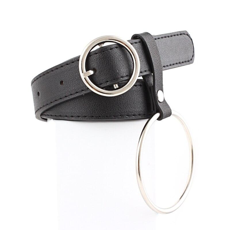 Fashion Women Accessory Faux Leather Heart  Adjustable Buckle Belt Waistband Women Belt Metal Party Dress Decor Size 105 Cm