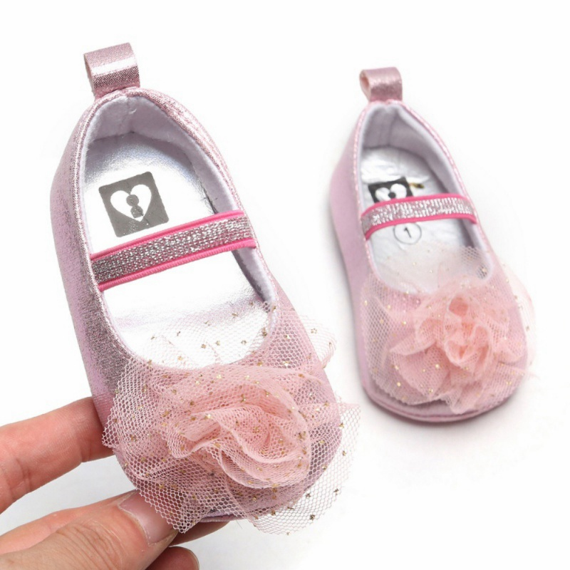 Baby Girl Flower Autumn Design Anti-Slip Casual Sneakers Toddler Soft Soled Princess Walking Shoes L