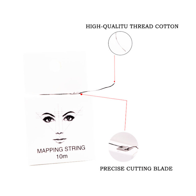 Microblading Supplies Pre-Inked Eyebrow Mapping String 10 Meters Ultra Thin Mess-Free Thread Create a Crisp Spot-on Brow Map 4