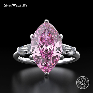 Image 4 - Shipei 天然サファイアリング女性のためのリアル 100% スターリングシルバー宝石用原石シトリン婚約ウェディングカクテル · リングファインジュエリー