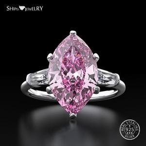 Image 4 - Shipei Natuurlijke Saffier Ring voor Vrouwen Echt 100% Sterling Zilveren Edelsteen Citrien Engagement Wedding Coctail Ring Fijne Sieraden