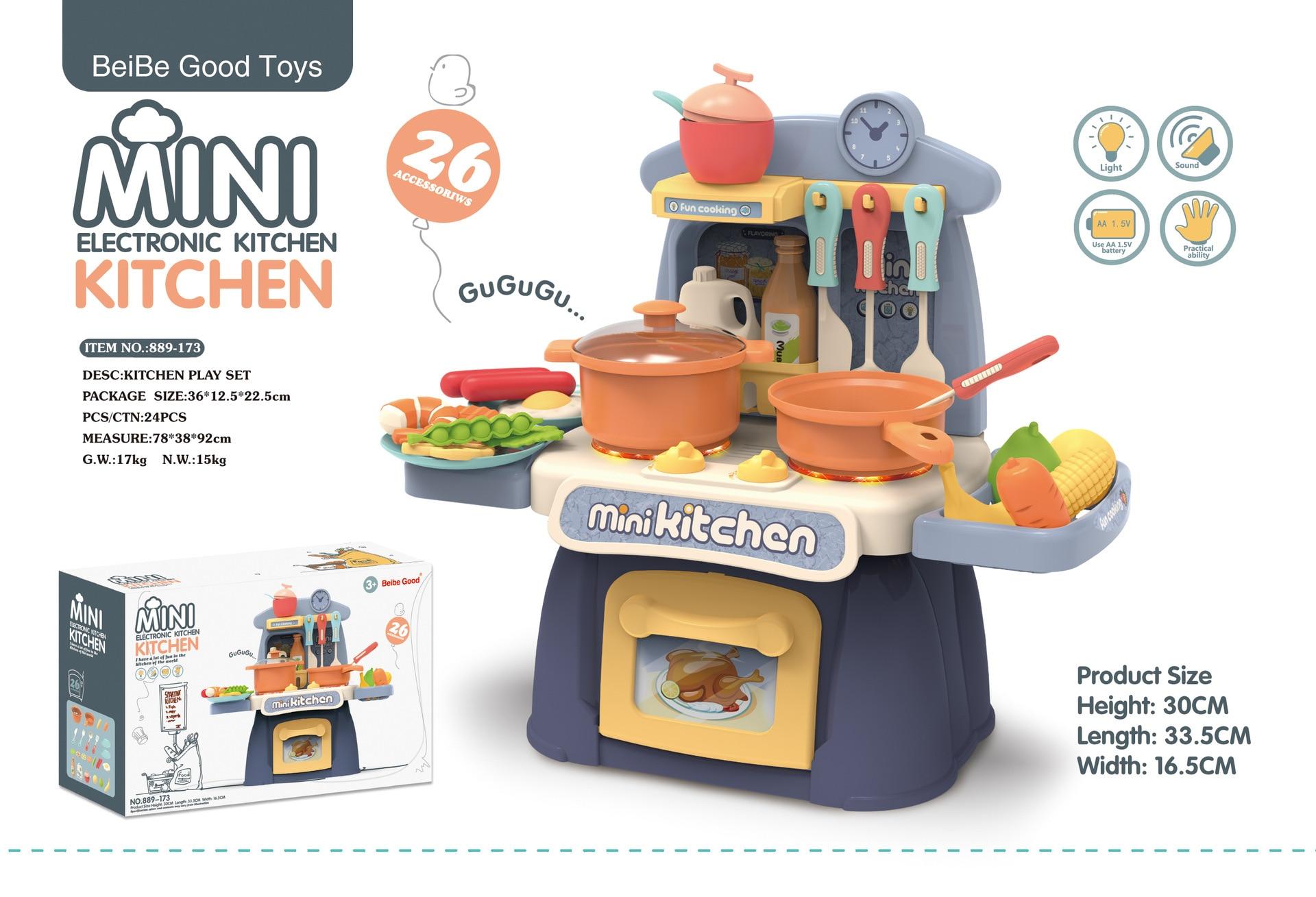 Mini Electronic Kitchen Set Toy With Miniature Food Kids Pretend Play Cooking Game Children S Kitchen Girls Toys 3 6 Years Kitchen Toys Aliexpress