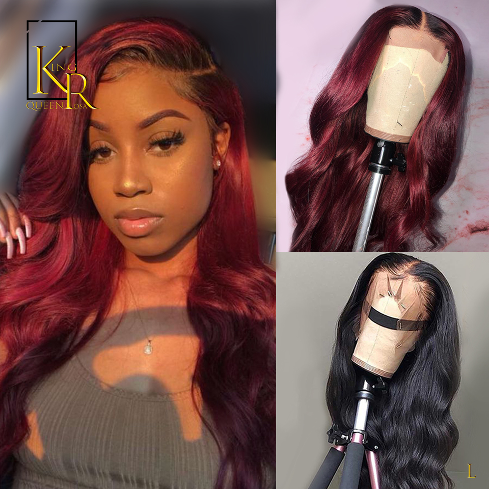 T1B99J Ombre Body Wave 13x4 Lace Front Human Hair Wigs 130% Density Remy Brazilian Pre Plucked Low Ratio Bleached