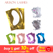 Eyelash-Extension Paper-Patches Under-Eye-Pads Free-Stickers Pink Lint for 50/100-pairs/lot
