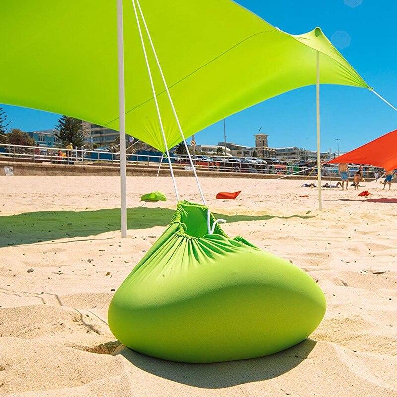 210x210 cm ao ar livre praia kale dossel sombra tenda de acampamento legal protetor solar uv dossel portátil barraca de pesca de acampamento - 3