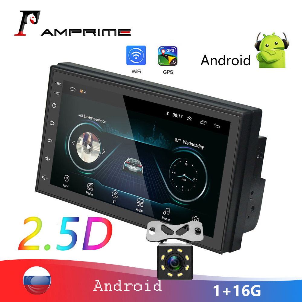 AMPrime 2din 7'' Autoradio 2.5D Car Multimedia Player GPS Bluetooth MP5 Android 2 Din Car Stereo For Volkswagen Nissan Car Radio