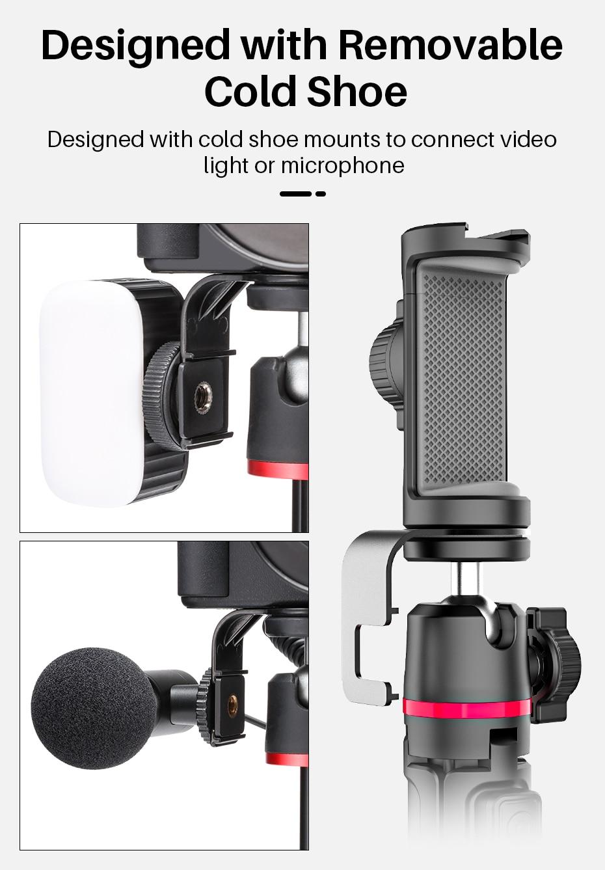 Ulanzi MT-30 Bluetooth Remote Extendable Tripod 6