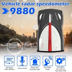 Image 2 - VODOOL Car Radar Detector English Russian Voice Warning Alarm Alert Digital tube display Car Anti Radar Detector X K Band