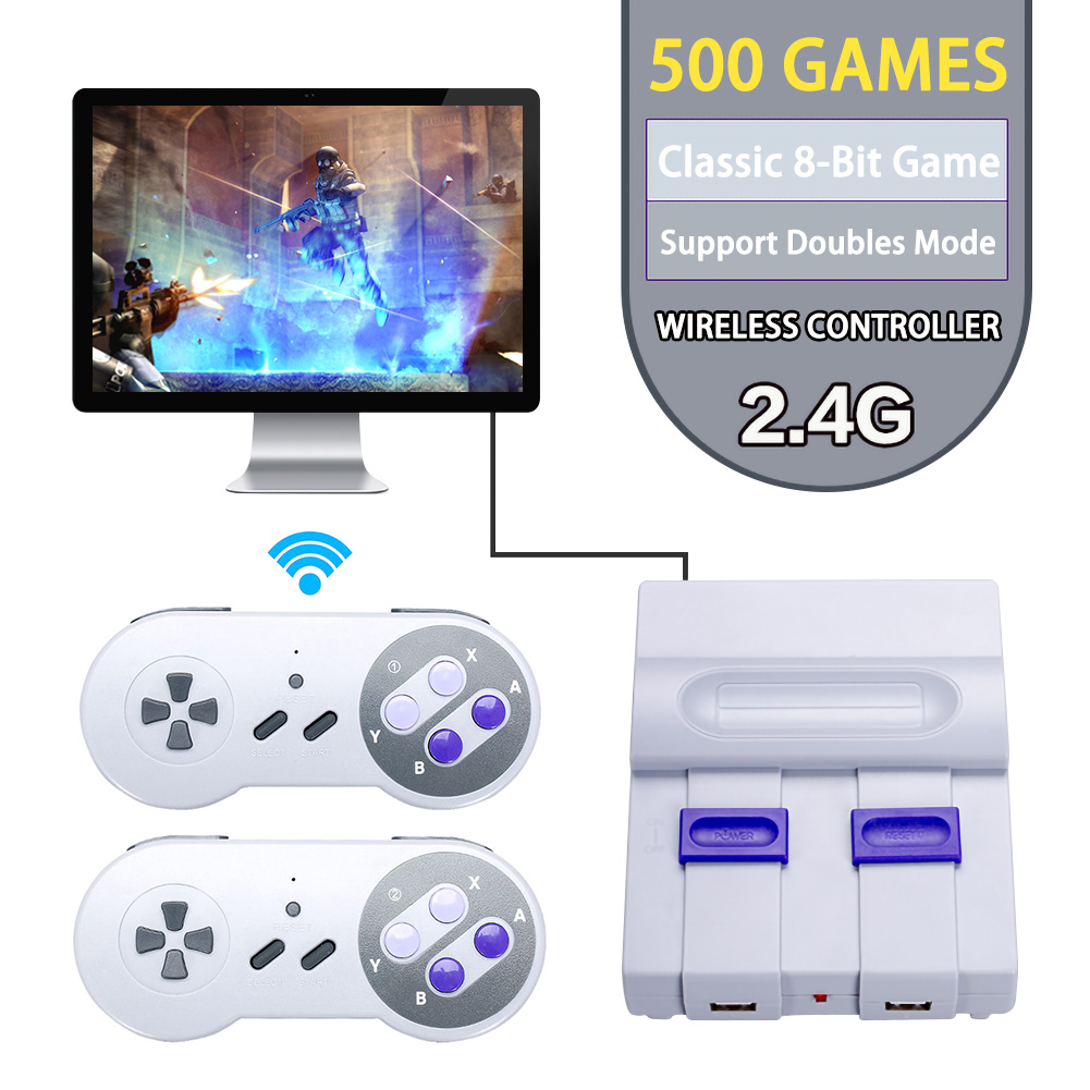 2.4G Video Game Console Player for Game Handheld Retro Game Game Player Support Camera Video Built-in 500 Classic Games Gift