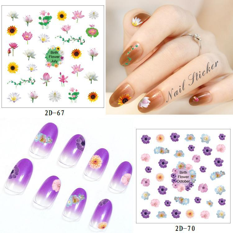 Foreign Trade Hot Selling Nail Decals Ultra-Thin Waterproof Environmentally Friendly Nail Stickers Exquisite Fashion Multi-color