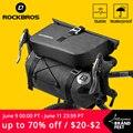 Велосипедная сумка ROCKBROS, вместительная водонепроницаемая сумка на руль велосипеда, на багажник велосипеда