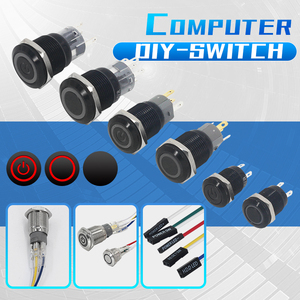 Computer modified boot button restart button Metal Push Button Switch 3-6V DIY PC Lamp Light power switch 12/16/19/22MM(China)