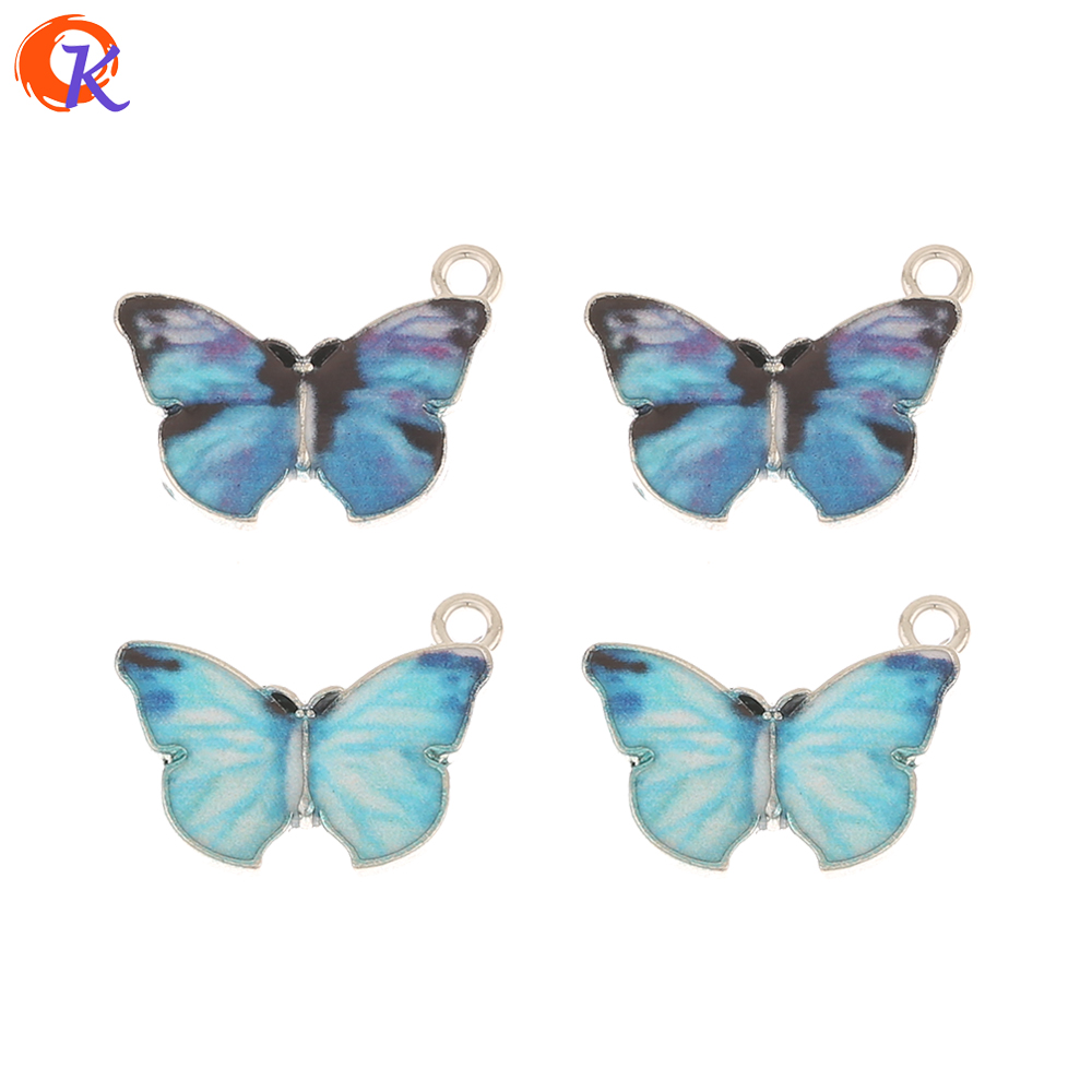 Cordial Design 100Pcs 15*20MM Jewelry Accessories/Charms/Paint Effect/Butterfly Shape/Hand Made/Earring Findings/DIY Pendant