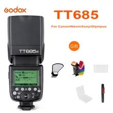 Godox TT685 TT685C TT685N TT685S TT685F TT685O lampa błyskowa TTL HSS lampa błyskowa speedlite do canona Nikon Sony Fuji aparaty Olympus