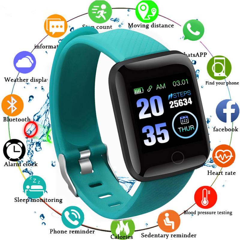 Monitor Band Fitness Tracker Wristbands Wearable Devices Pedometers 116Plus Smart Band Watch Bluetooth Heart Rate Blood Pressure 6