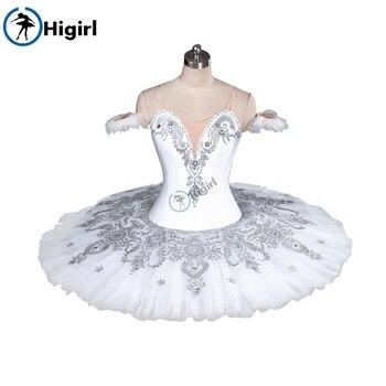 цена на Girls professional tutu white ballet costume adult white swan lake ballet tutu pancake tutu child tutu balletBT9082A