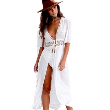 Pareo חוף כיסוי למעלה רקמת 2020 ביקיני בגד ים לחפות חלוק דה Plage חוף ללבוש קרדיגן בגדי ים רחצה חליפת כיסוי עד