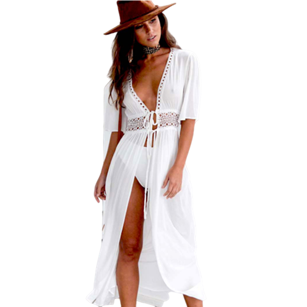 Pareo Beach Cover Up Embroidery 2020 Bikini Swimsuit Cover Up Robe De Plage Beach Wear Cardigan Swimwear Bathing Suit Cover Up