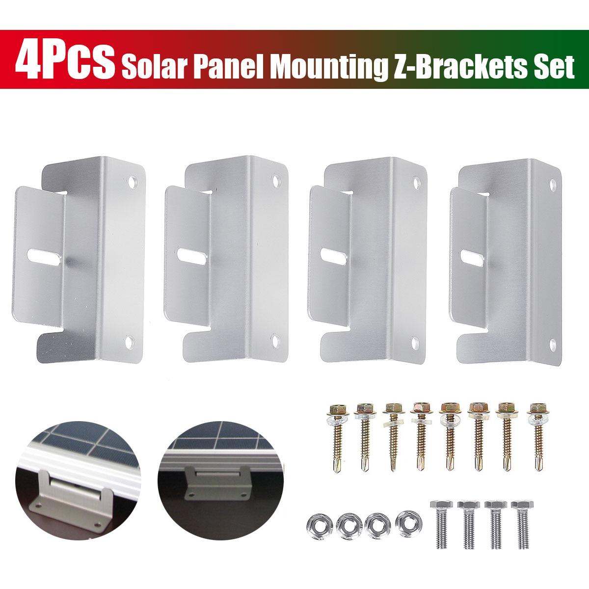 4pcs Mounting Bracket Set Frame Kits For Solar Panel Kits Adhesive Bond Caravan Boat|Solar Accessories| |  - title=