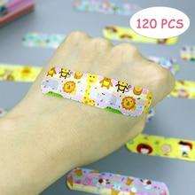 Hot sale 120PCS Waterproof Breathable Cartoon Band Aid Hemostasis Plasters Emergency Adhesive Bandages For Kids
