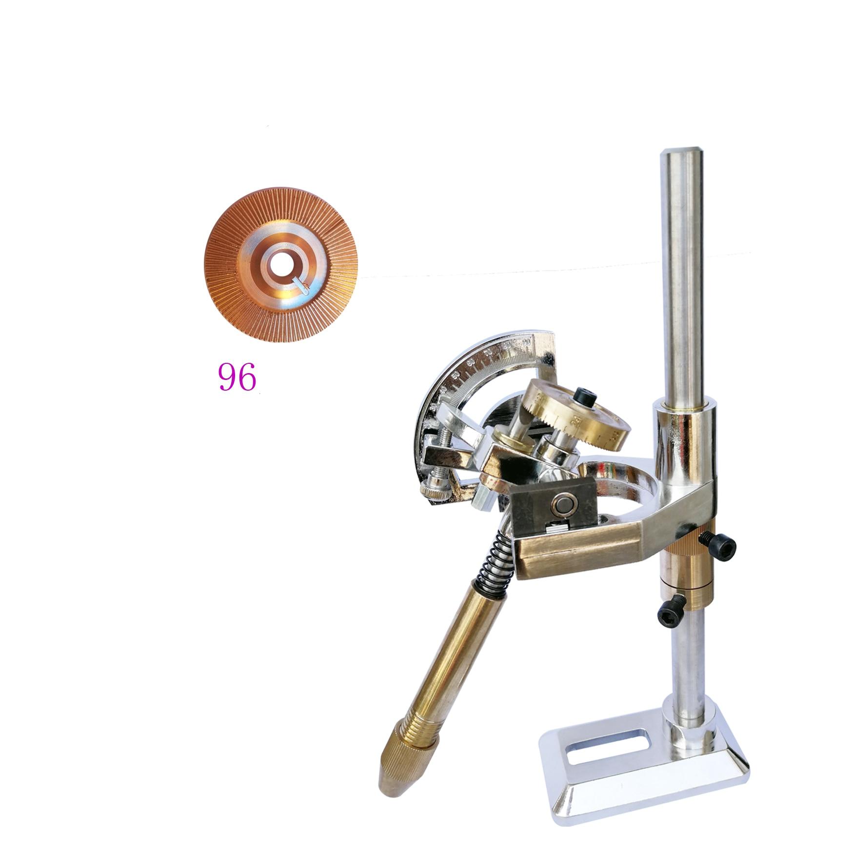 Jade Grinding Faceted Manipulator Gem Faceting Machine Jewel Angle Polisher Fork 32/64/72/96 Index Wheels Handle