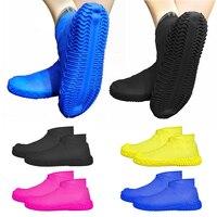 1 쌍 방수 실리콘 신발 커버 재사용 가능한 남여 장화 신발 비 보호기 미끄럼 방지 고무 신발 커버 s/m/l|신발 커버|홈 & 가든 -