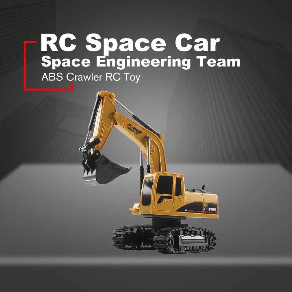 Mini RC kamyon ekskavatör buldozer 1:24 alaşım mühendislik araba DAMPERLİ KAMYON vinç elektrikli araç oyuncak çocuklar için hediyeler