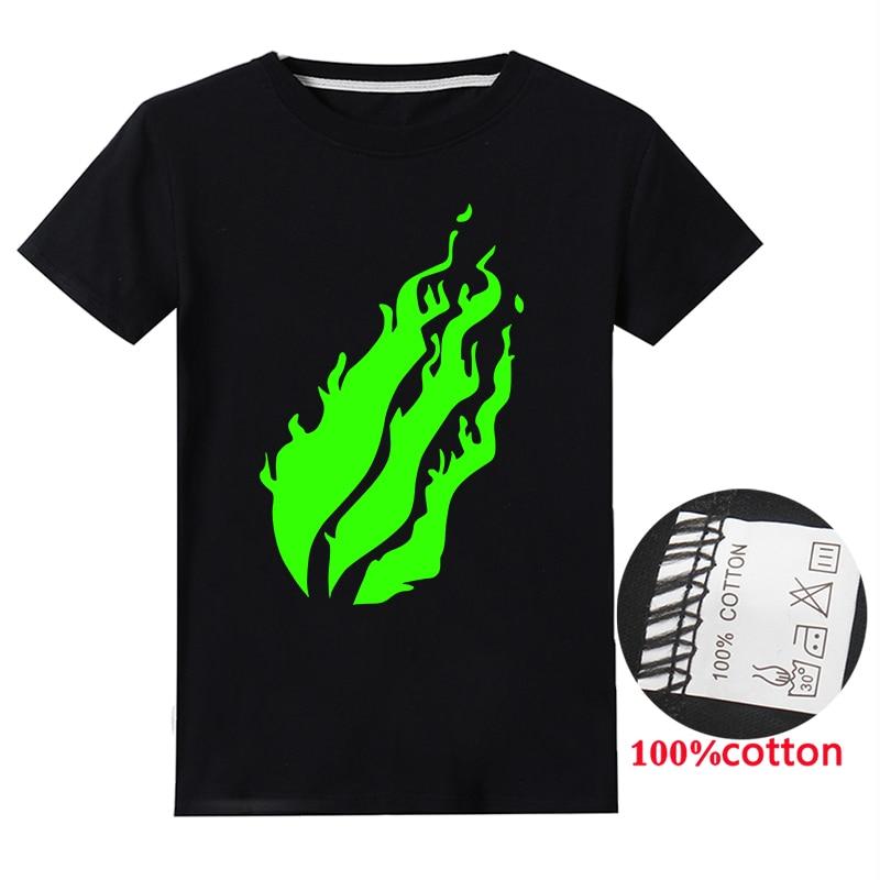 UK Hot PRESTONPLAYZ Flame T-Shirt  Boys Girls 100/% Cotton Casual Tee Tops Gift
