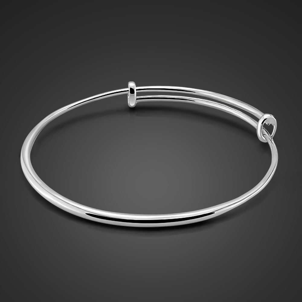 Charming lady sterling silver jewelry.Contracted solid 925 silver girl bracelets.Fashionable woman sterling silver bracelet