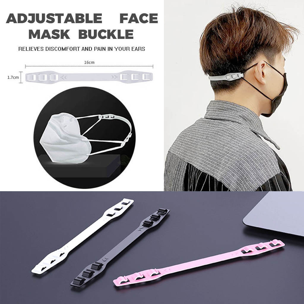 3PCS Third Gear Adjustable Anti-Slip Mask Ear Grips Extension Hook Face Masks Buckle Holder Accessories Protection Safety