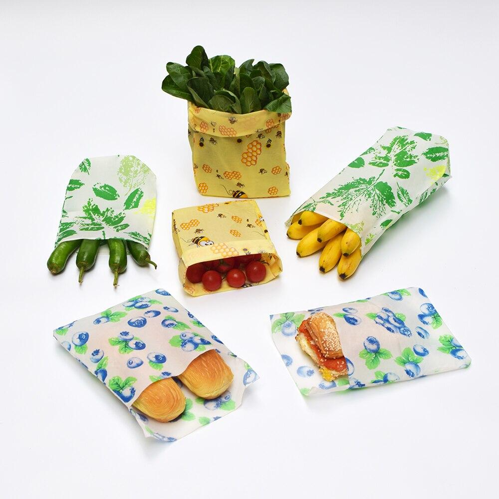 Экологически чистый многоразовый пакет из пчелиного воска для хранения продуктов Органическая упаковка для упаковки закусок