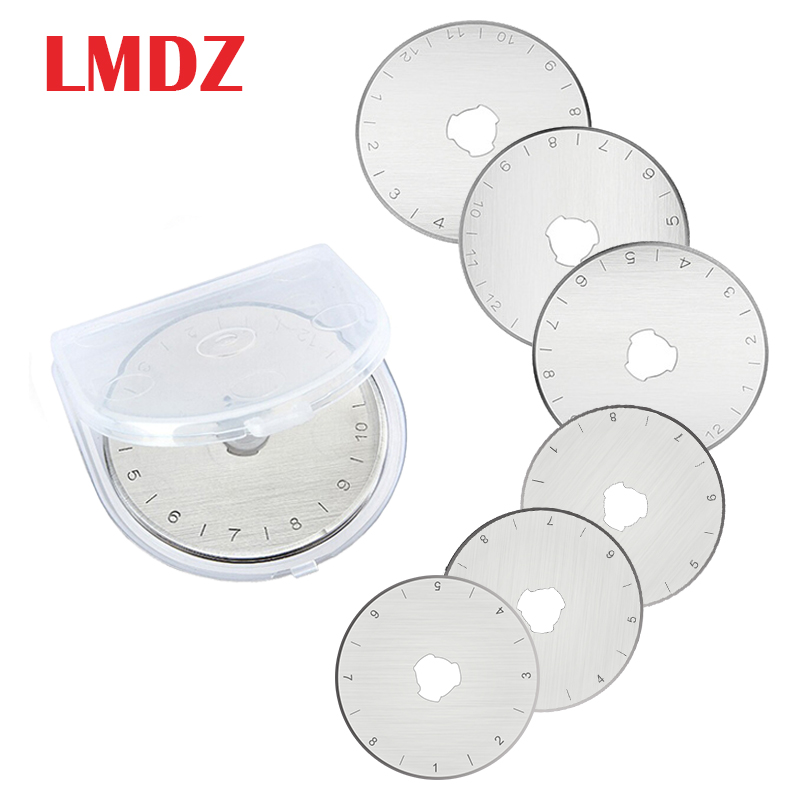 LMDZ 5PCS Circular Rotary Cutter Replacement Spare Safety Blades Hand Held Refill  Fabric Leather Craft Steel Quilting Cutters