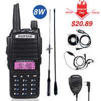 Véritable 8W Baofeng UV-82 talkie-walkie 10km uv-82hp Radio bidirectionnelle UV82 VHF UHF double bande émetteur-récepteur chasse Portable CB jambon Radio