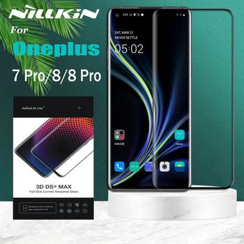 for OnePlus 8 Pro Tempered Glass Oneplus 7 Pro Glass Screen Protector Nillkin 3D Full Coverage 9D Edge Safety Glass on Oneplus 8