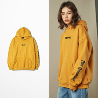 Winter Warm Yellow Poster Hip Hop sweat homme Hoodie Hooded Man Letters Justin Bieber Purpose Tour Streetwear Quality Hoodies