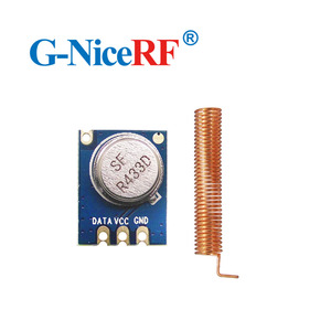 Image 4 - 8pcs/lot  433MHZ  Superheterodyne ASK RF Transmitter Module STX882  including spring antenna