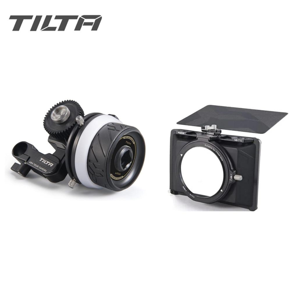IN STOCK TILTA MB-T15 Mini Matte Box +FF-T06 MINI Follow Focus For DSLR Mirrorless Cameras TILTAING For SONY A7 A9 GH5S 5D3 5D4