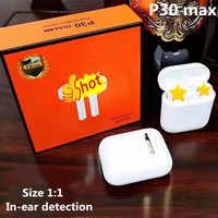 P30 Max TWS w ucho wykrywania inteligentny czujnik 1:1 bas bezprzewodowy 5.0 słuchawki tws pk H1 W1 Chip i12 i10 i11 i500 i9000 tws
