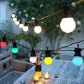 8 м/13 м/24 м светодиодный шар строка светильник улица Рождественский Сказочный светодиодный гирлянда на открытом воздухе для сада на заднем д...