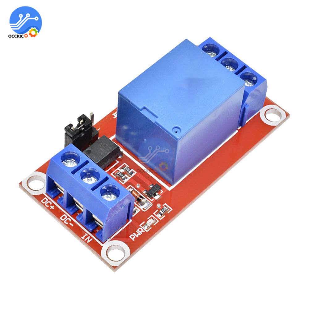 DC 5V 9V 12V 24V Modul 1 CH dengan Optocoupler Perisai Papan Power Supply Waktu delay Relay Papan