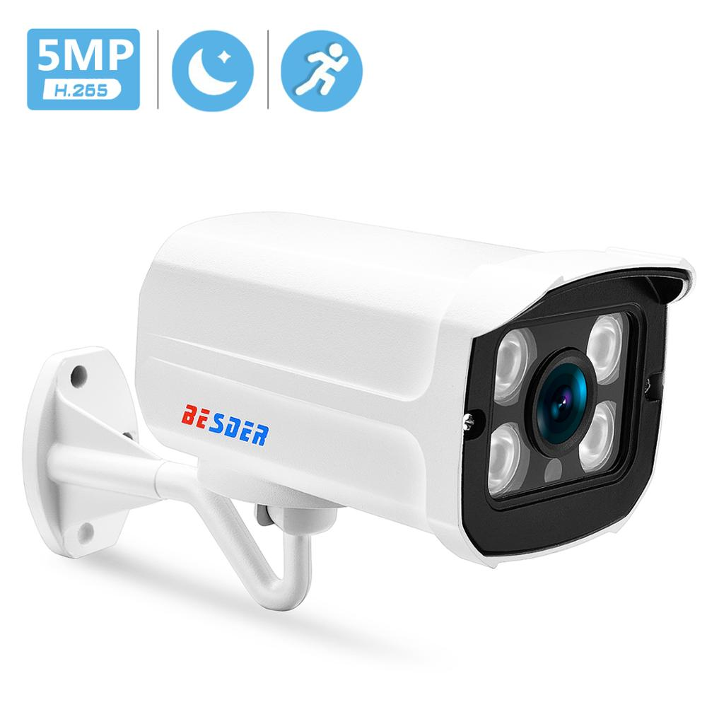 BESDER H.265 IP Camera 5MP/3MP Metal Case IP67 Waterproof Outdoor CCTV Camera Night Vision Security Video Surveillance ONVIF P2P