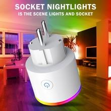 Smart EU Plug Wifi Socket Smart Home Tuya Smart Leven App LED Licht Schakelaar Controle Sockets Voor USA Alexa Google thuis Mini IFTTT
