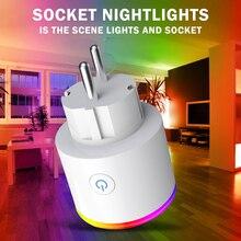 Умная Евророзетка с Wi Fi, умная розетка для умного дома, приложение Tuya Smart Life, светодиодный выключатель света, розетки управления для США, Alexa Google Home Mini IFTTT