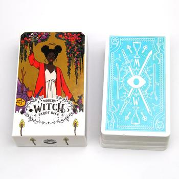 78Pcs The Modern Witch Tarot Deck Oracle Cards English PDF Instructions Table Deck Board Game Party Playing Card Games недорого